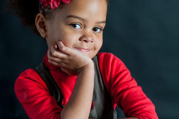 Enfant noir profil